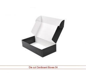 Custom die cut cardboard boxes