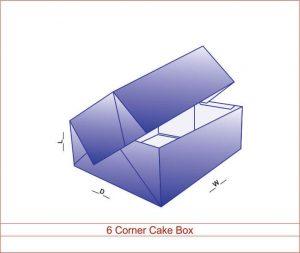 6 Corner Cake Box NY