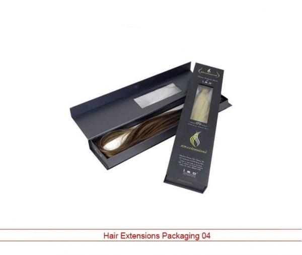 Custom hair extensions packaging