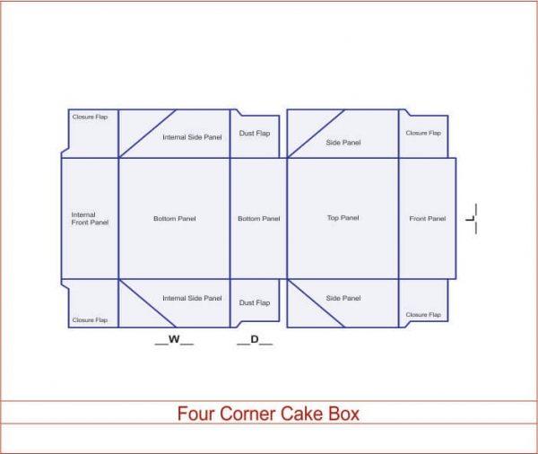 Four Corner Cake Box 03