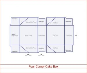 Four Corner Cake Box 03 3