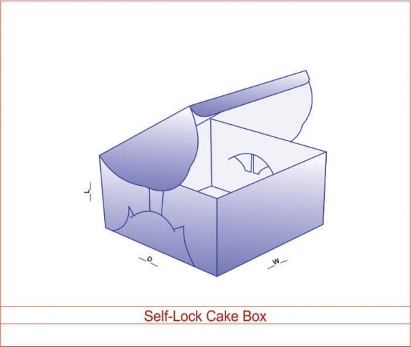 Self-Lock Cake Box 02