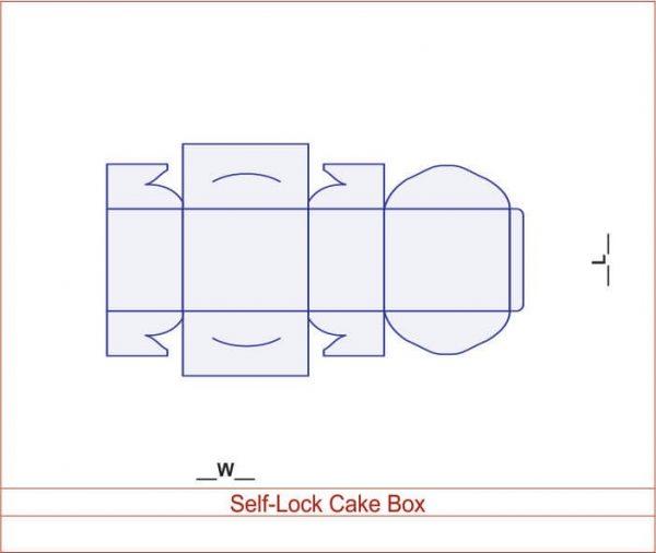 Self-Lock Cake Box 03