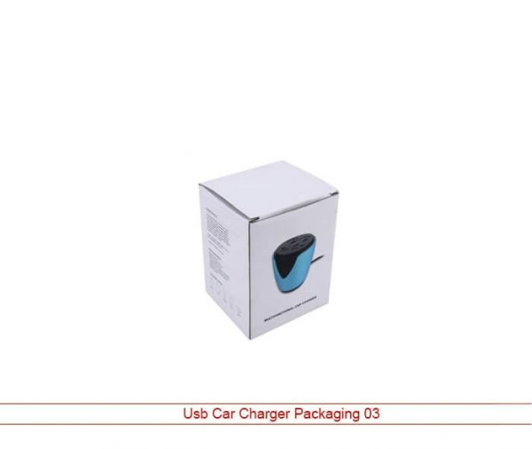 White Usb Car Charger Packaging